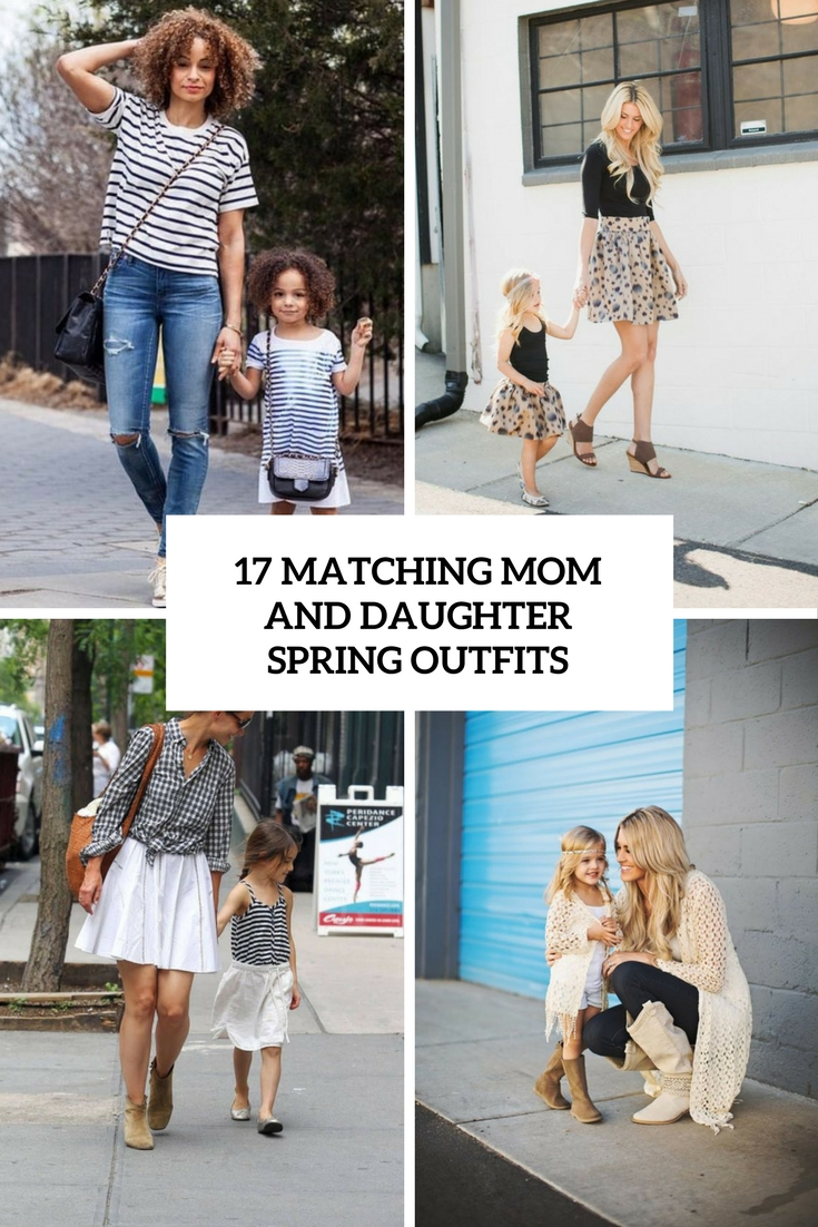 matching mom and daughter spring outfits cover