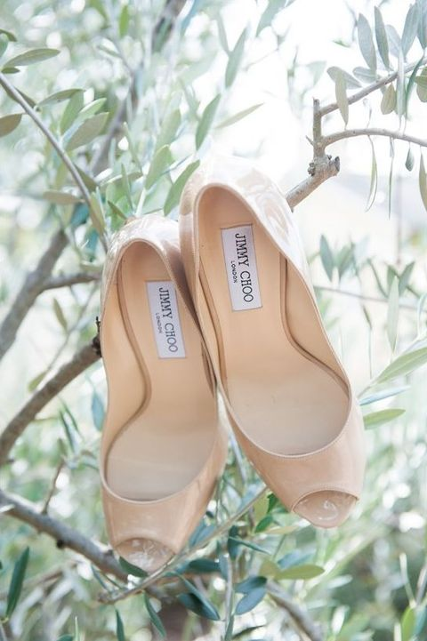 peep-toe cream Jimmy choo heels can be worn after your big day