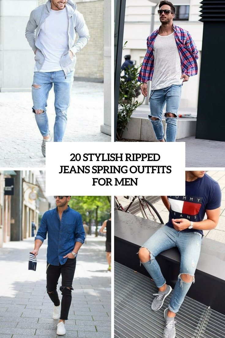 stylish ripped jeans spring outfits for men cover