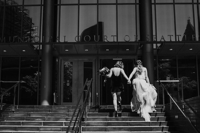 City Hall wedding in Seattle | Lena Peterson Photography