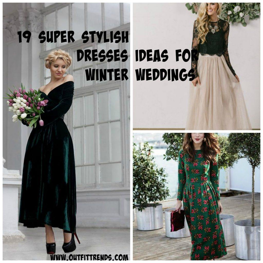 Outfits for Winter Wedding – 19 Amazing Winter Dresses for Wedding ...