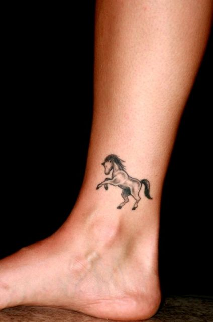 Black horse on the ankle