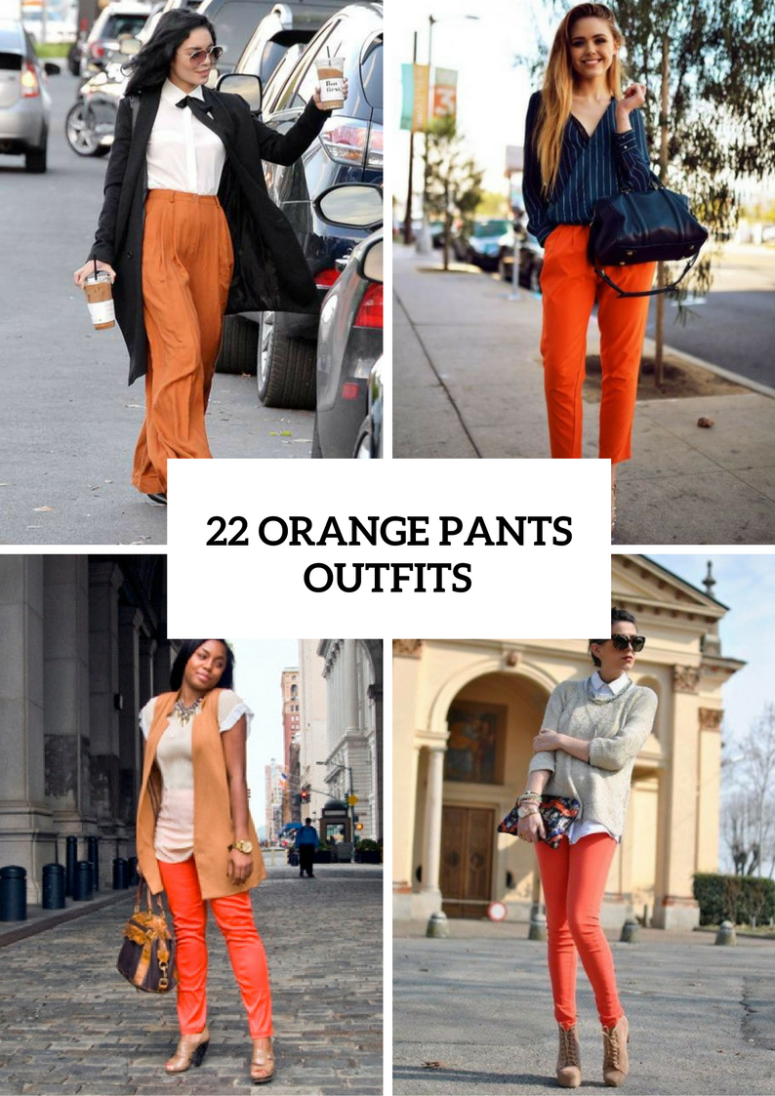 Orange Pants Outfits For Fashionistas