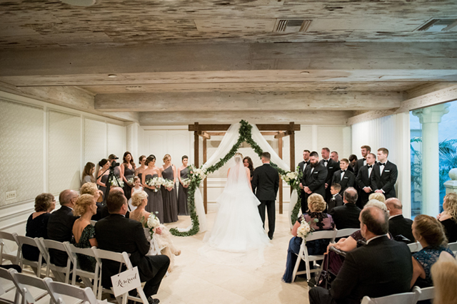 Indoor Boca Raton wedding | Starfish Studios
