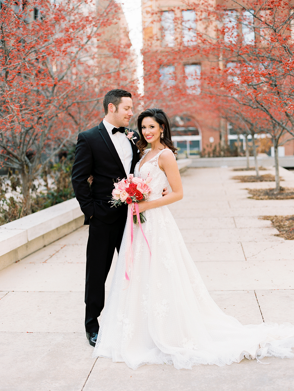 Chic City Valentine's Day Wedding Inspiration - photo by Erin Stubblefield http://ruffledblog.com/chic-city-valentines-day-wedding-inspiration