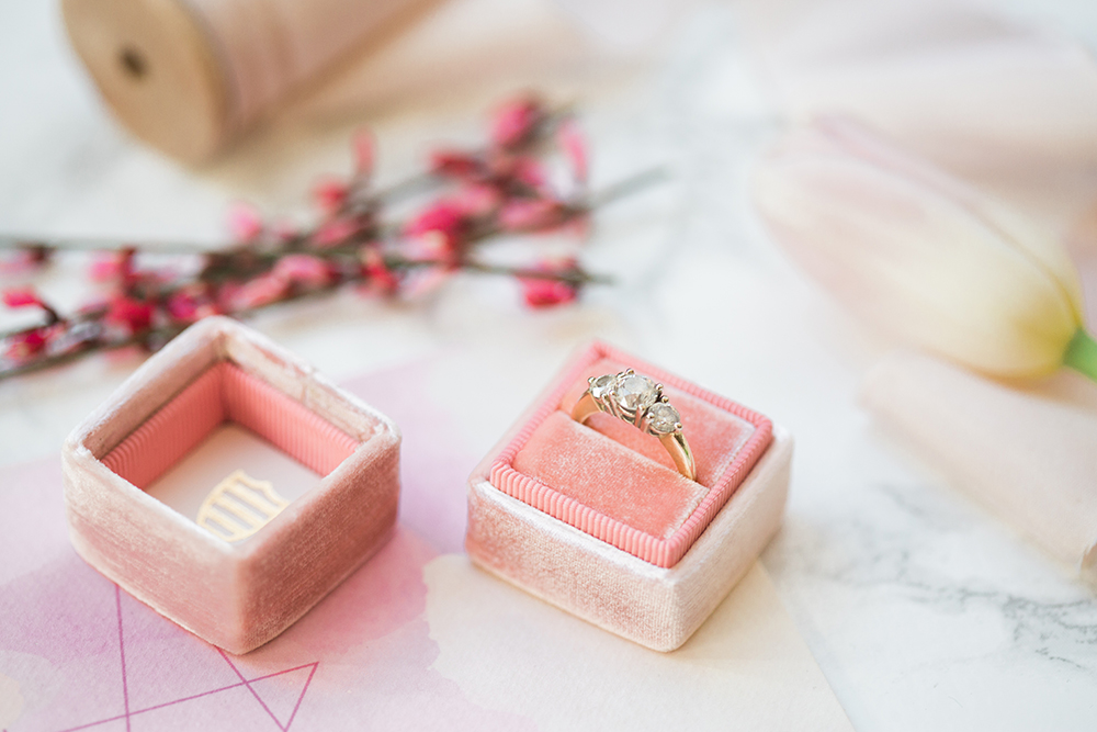engagement rings - photo by Erin Stubblefield http://ruffledblog.com/chic-city-valentines-day-wedding-inspiration