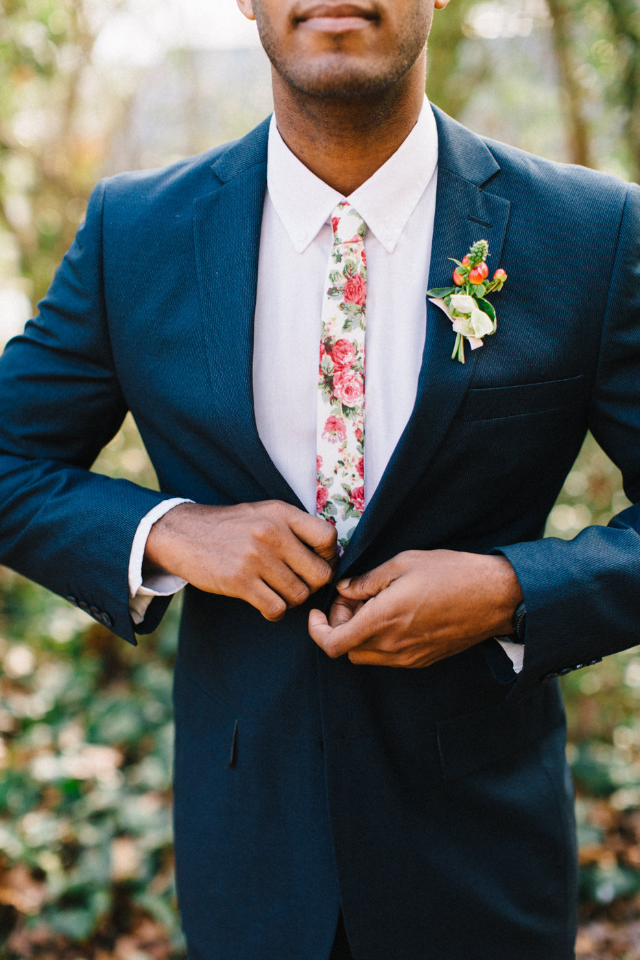 groom fashion - photo by 4 Corners Photography http://ruffledblog.com/backyard-elopement-inspiration-for-valentines-day