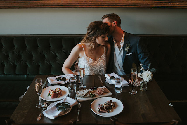 Seattle restaurant wedding reception | Lena Peterson Photography