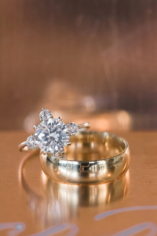 Unique diamond engagement ring | #aislesocietyexperience @aislesociety presented by @minted | Brkyln View Photography