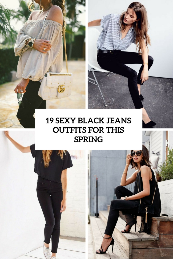 sexy black jeans outfits for this spring cover
