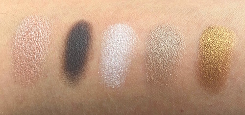 Maybelline 24K Nudes Eyeshadow Palette swatches
