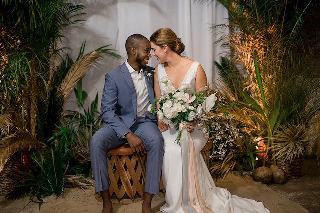 Indoor beach wedding ideas | #aislesocietyexperience @aislesociety presented by @minted | Brkyln View Photography