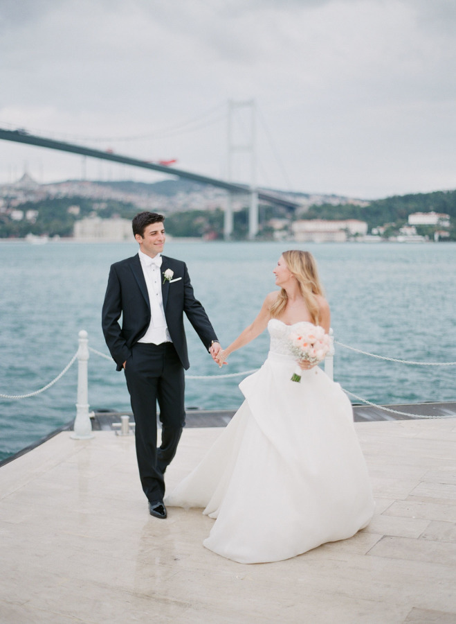 This couple had a multi cultural wedding on the shores of Bosphorus in Istanbul, 240 guests from 40 countries arrived