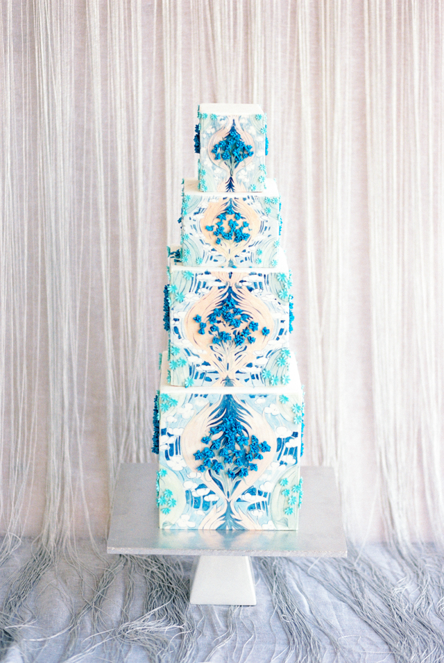 Blue and mint wedding cake | Nadiya Niyazova Photography