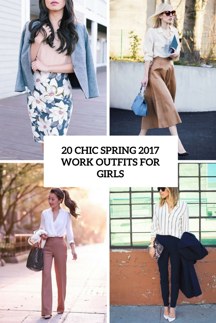 chic spring 2017 work outfits for girls cover