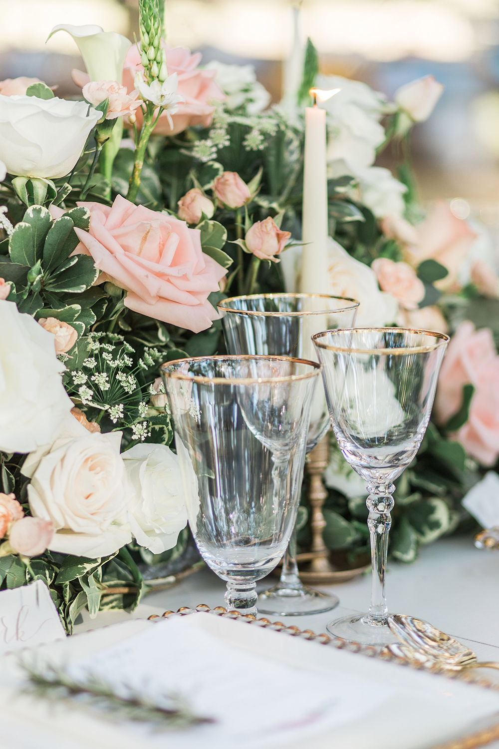 wedding centerpieces - photo by Landon Hendrick Photography http://ruffledblog.com/southern-garden-chic-wedding-inspiration