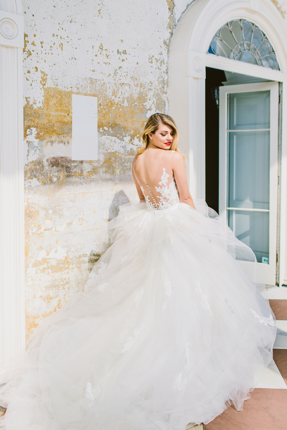 Tristan bodysuit with Gemma skirt from Sottero & Midgley - http://ruffledblog.com/drool-worthy-wedding-gowns-we-cant-stop-looking-at