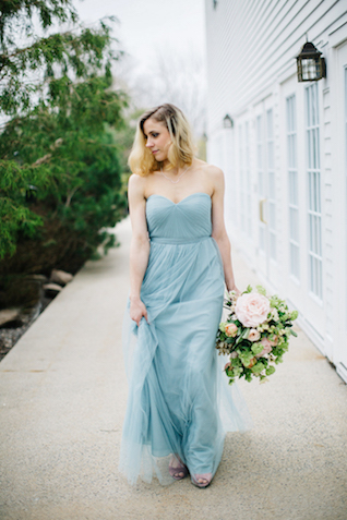 Serenity blue wedding dress | Greta Tucker Photographer