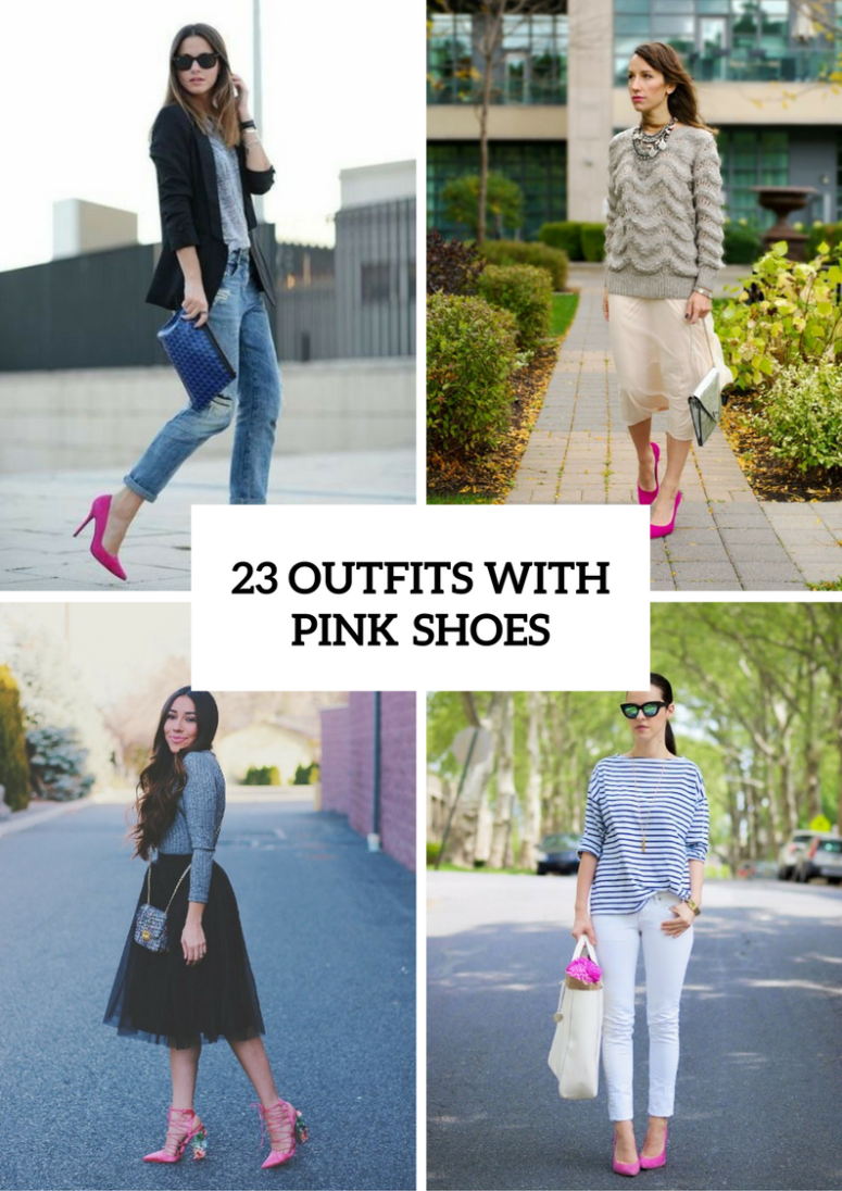 Women Outfit Ideas With Pink Shoes For This Season