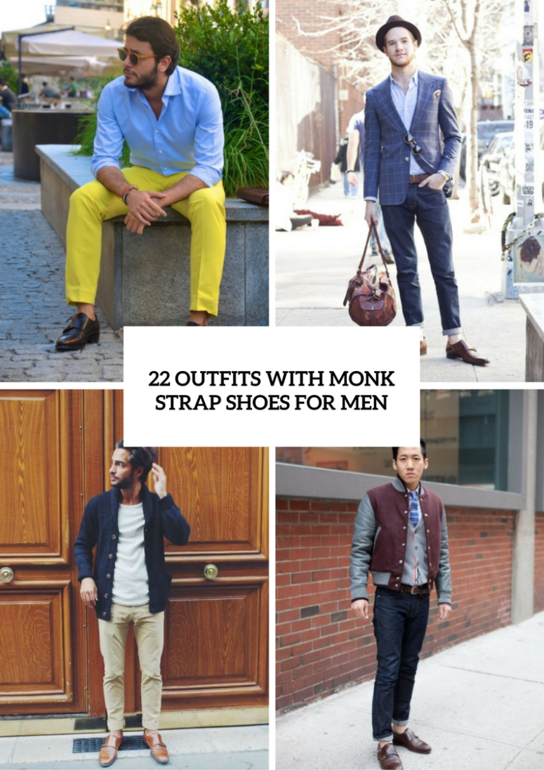 Elegant Men Outfits With Monk Strap Shoes