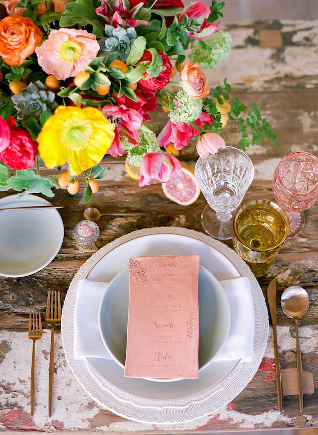 terra cotta menu | Lacie Hansen Photography