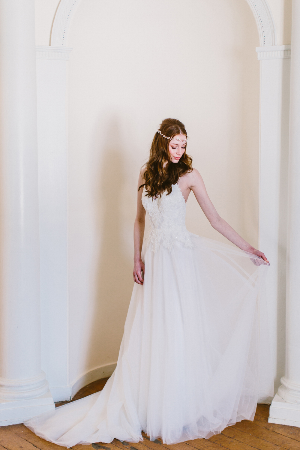 Marjorie by Rebecca Ingram - http://ruffledblog.com/drool-worthy-wedding-gowns-we-cant-stop-looking-at photo Redfield Photography