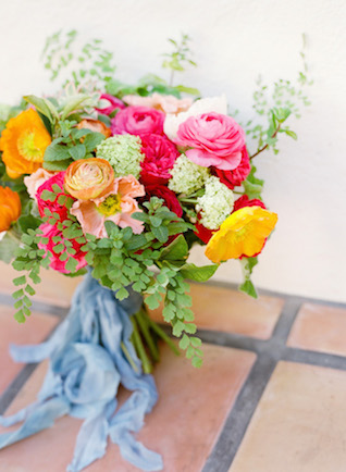 Colorful bridal bouquet | Lacie Hansen Photography