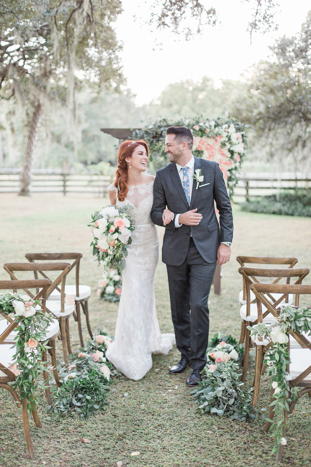 wedding ceremonies - photo by Landon Hendrick Photography http://ruffledblog.com/southern-garden-chic-wedding-inspiration
