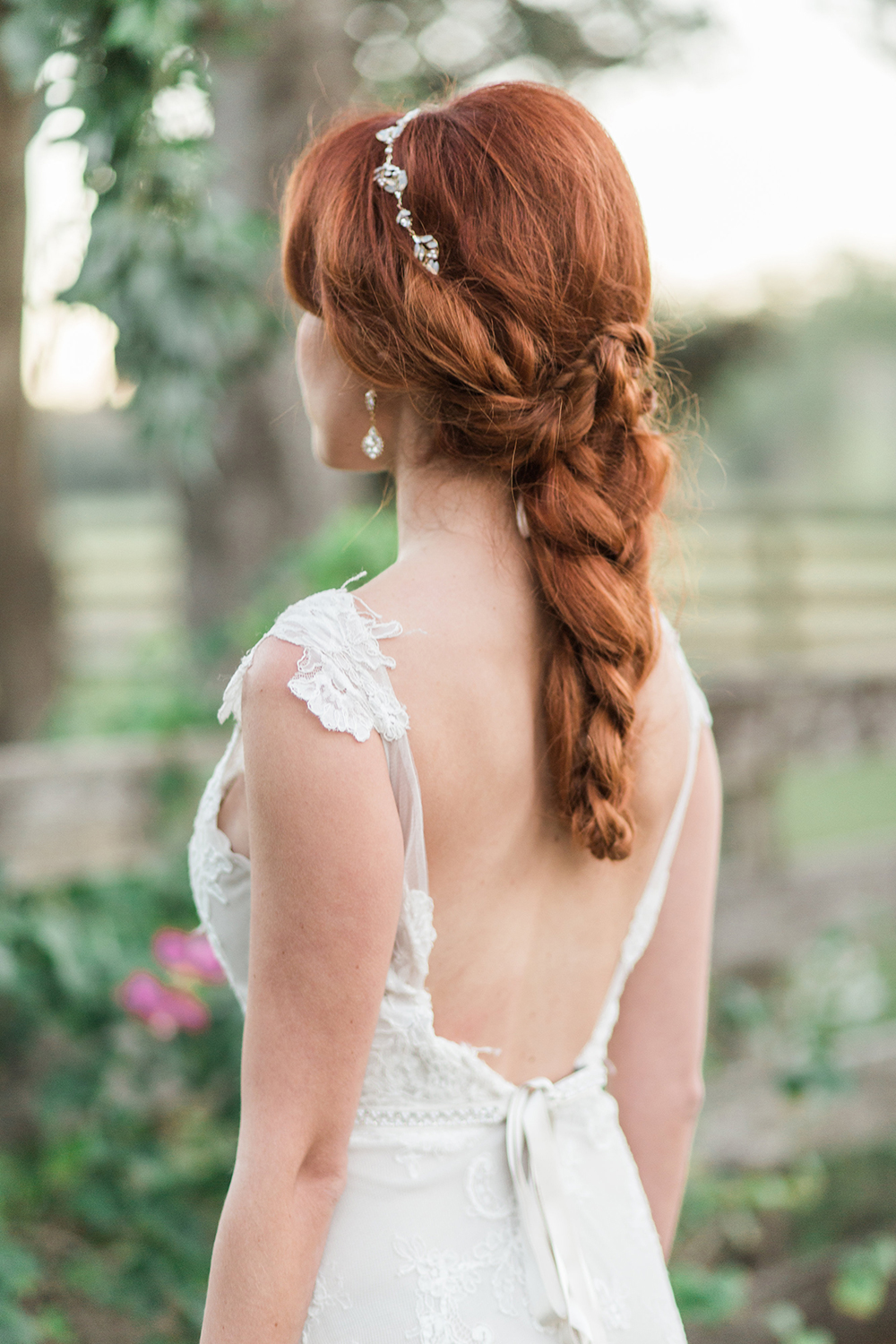 unique wedding hair braids - photo by Landon Hendrick Photography http://ruffledblog.com/southern-garden-chic-wedding-inspiration