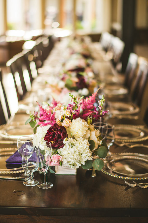 Floral table arrangement - Sam Hurd Photography