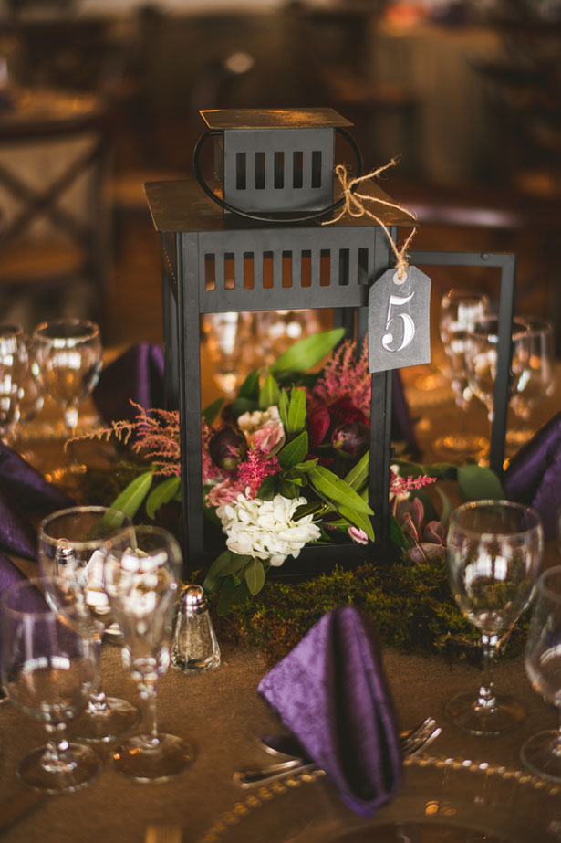 Lantern wedding centerpiece - Sam Hurd Photography
