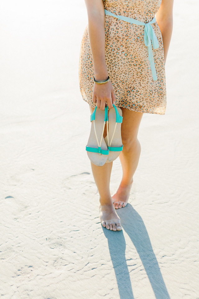 Turquoise and gold sandals | Irene Fiedler Photography