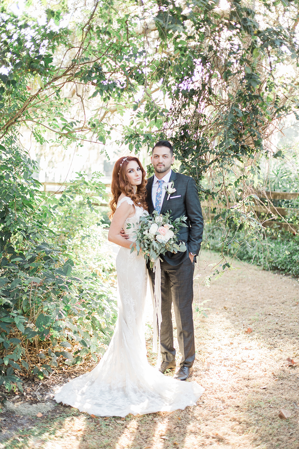 Southern Garden Chic Wedding Inspiration - photo by Landon Hendrick Photography http://ruffledblog.com/southern-garden-chic-wedding-inspiration