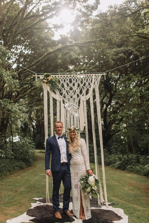 a macrame hanging looks ethereal and beautiful