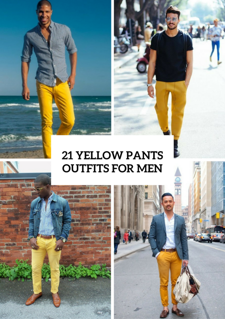 Stunning Yellow Pants Outfits For Men