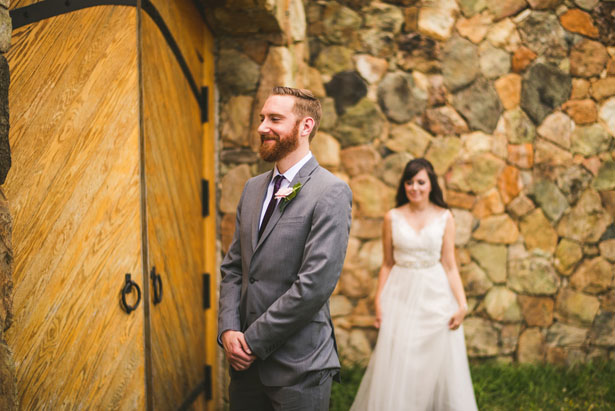 Wedding first look - Sam Hurd Photography