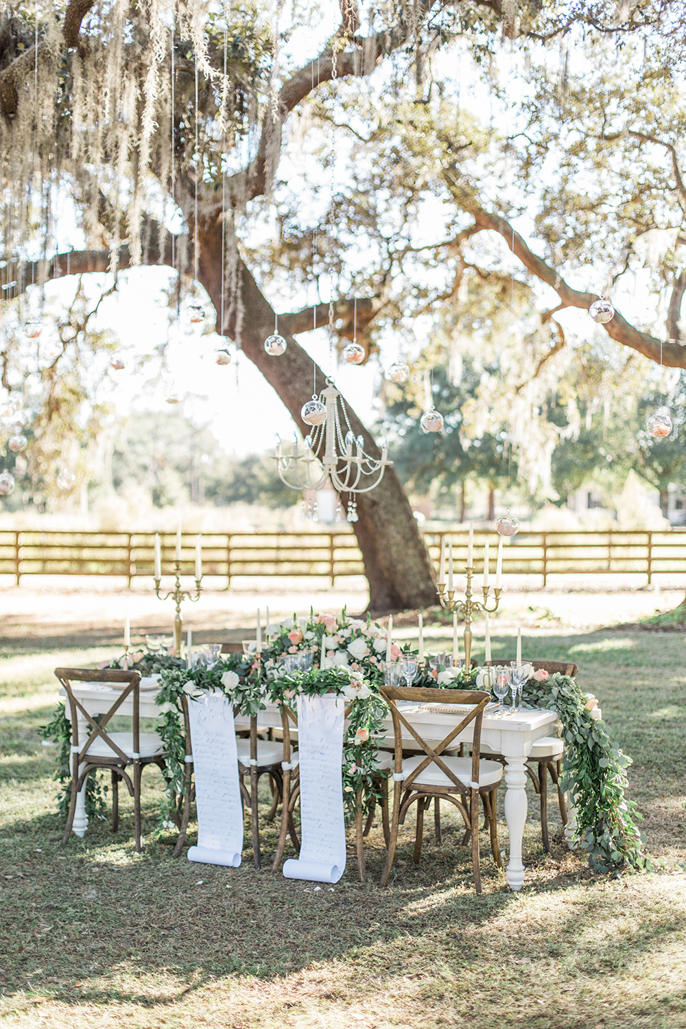 romantic wedding receptions - photo by Landon Hendrick Photography http://ruffledblog.com/southern-garden-chic-wedding-inspiration