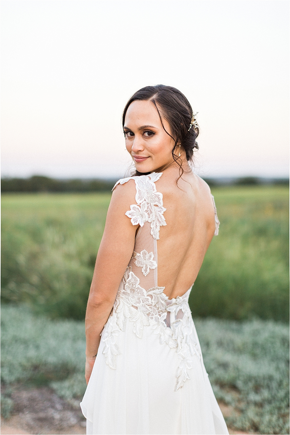 lace wedding dresses - photo by Flora and Fauna http://ruffledblog.com/modern-bohemian-wedding-with-an-air-plant-bouquet