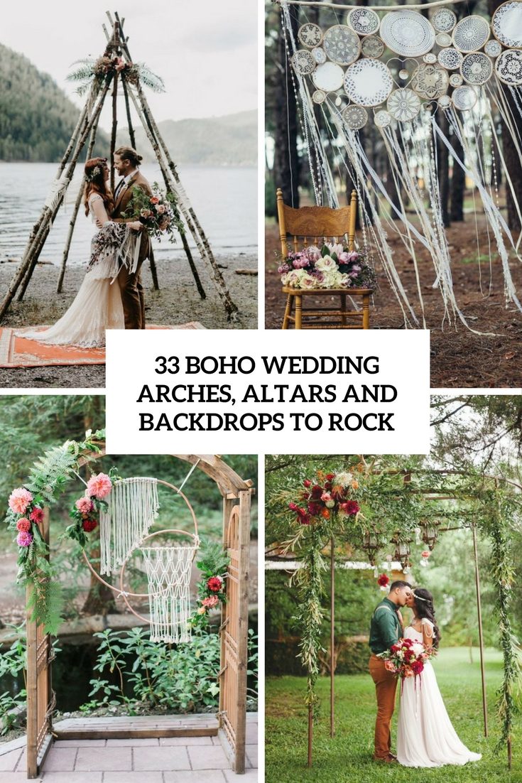 boho wedding arches, altars and backdrops to rock cover