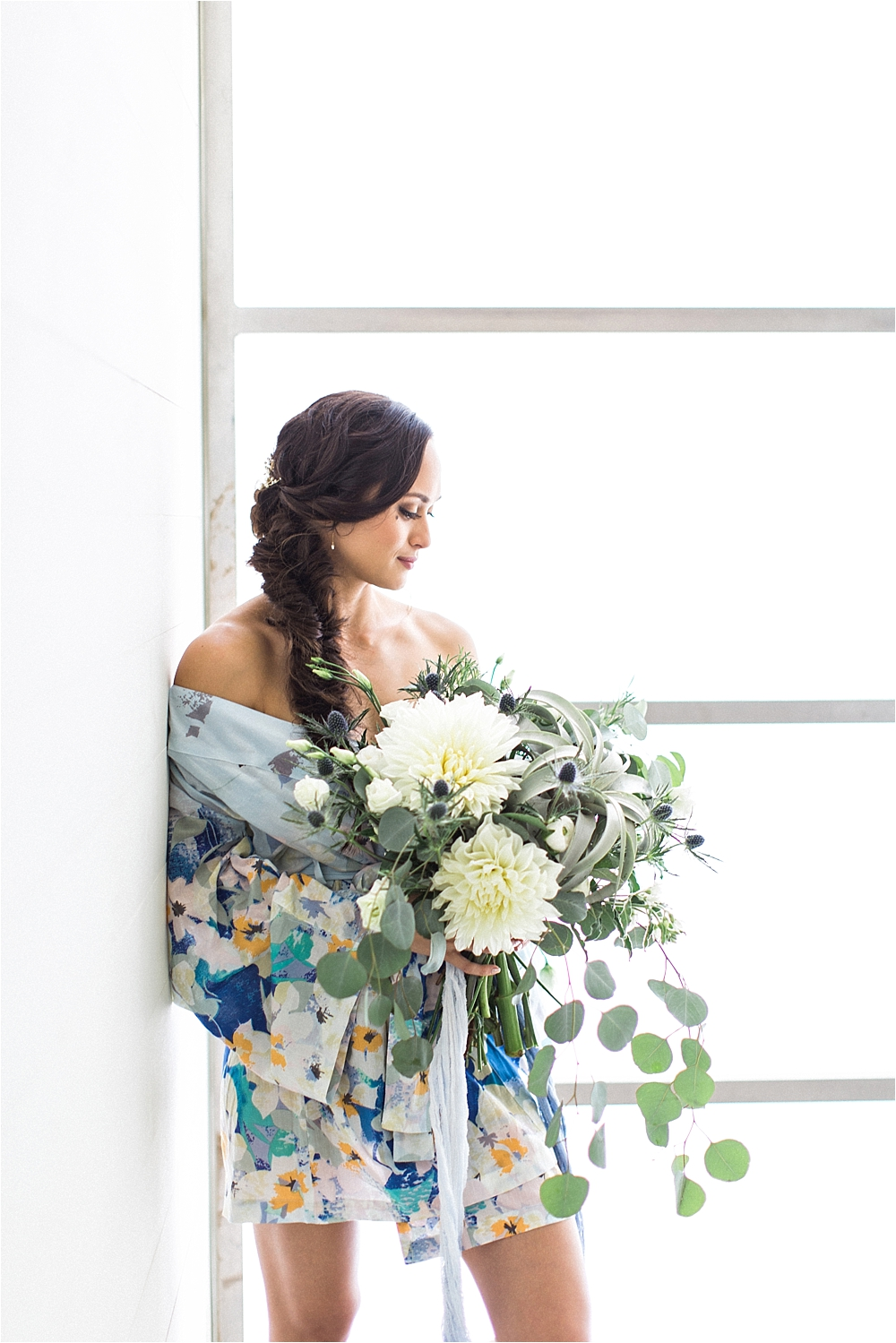 bride getting ready - photo by Flora and Fauna http://ruffledblog.com/modern-bohemian-wedding-with-an-air-plant-bouquet