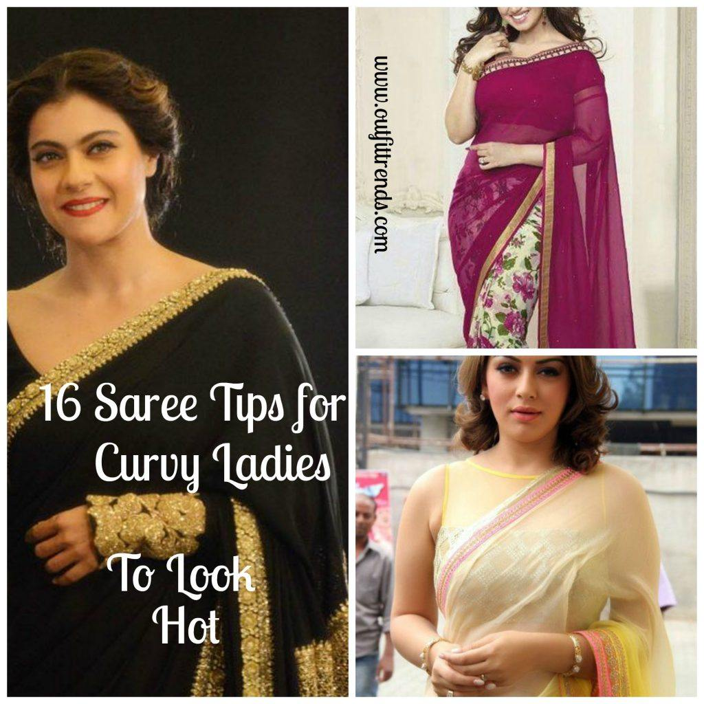 how to wear saree curvy plus size women
