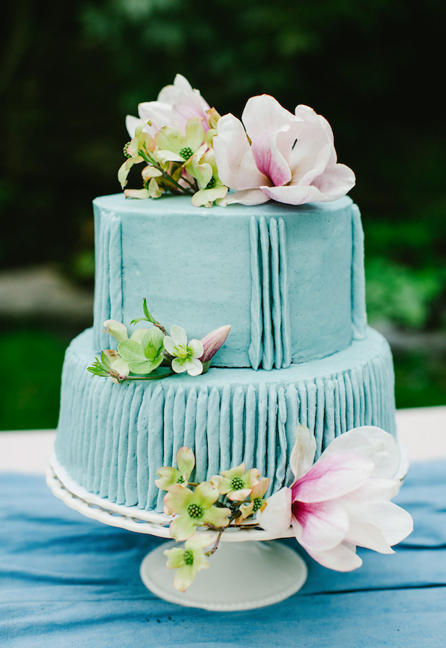 Pantone serenity blue wedding cake | Greta Tucker Photographer