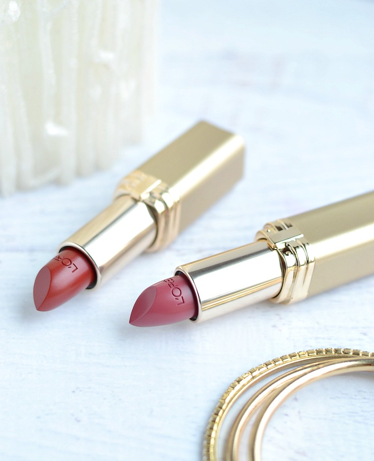 L'Oreal Colour Riche lipsticks - Raisin Rapture and Blushing Berry