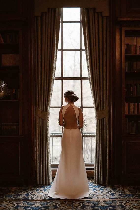 This modern wedding shoot with an edge took place at Hampshire House