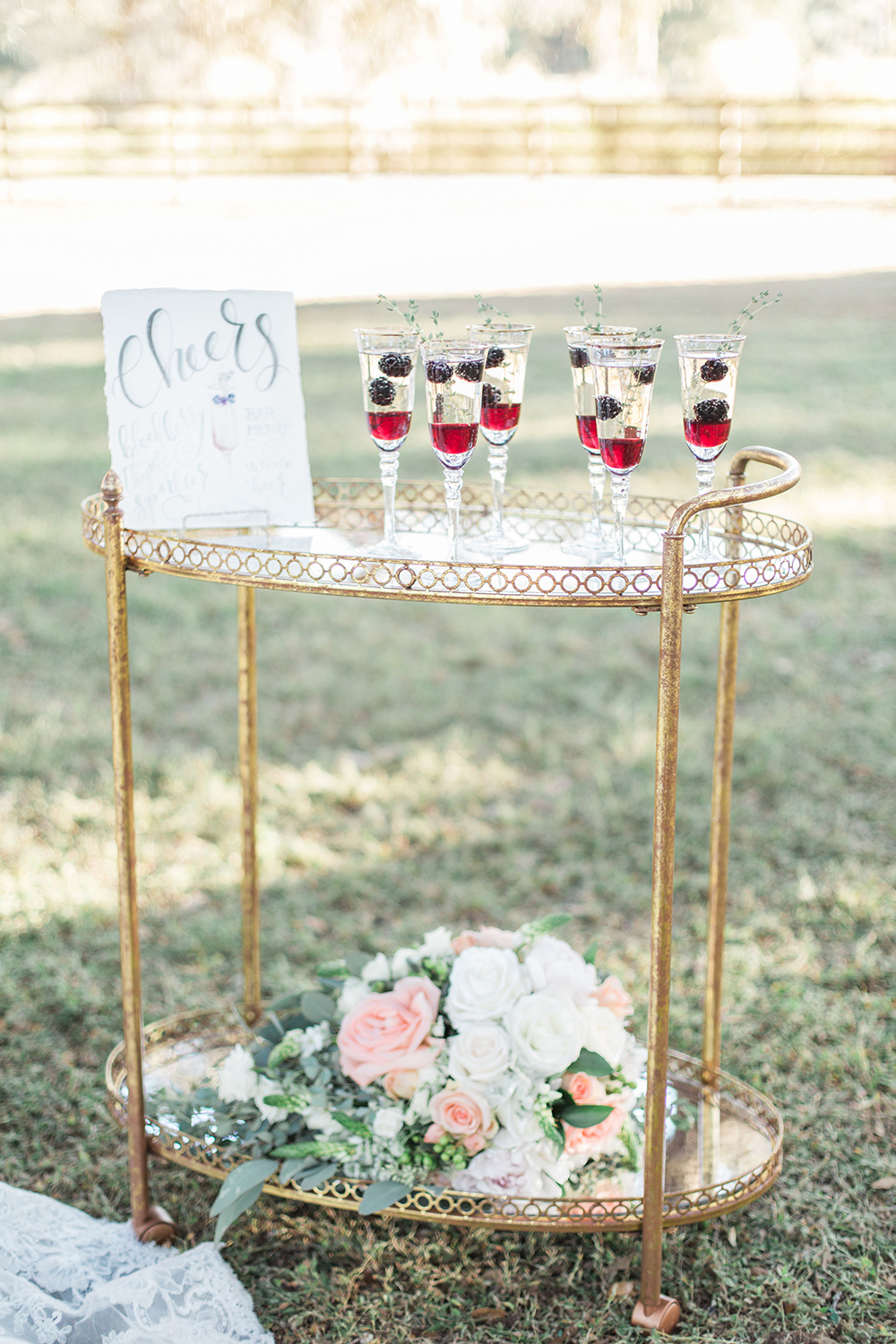 wedding drinks - photo by Landon Hendrick Photography http://ruffledblog.com/southern-garden-chic-wedding-inspiration