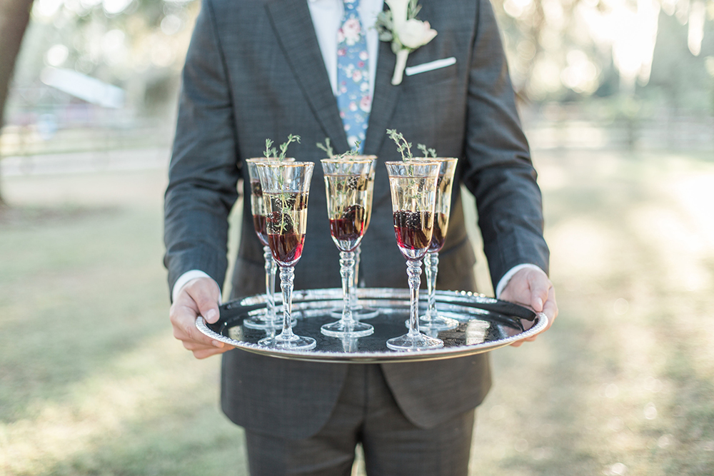 wedding cocktails - photo by Landon Hendrick Photography http://ruffledblog.com/southern-garden-chic-wedding-inspiration