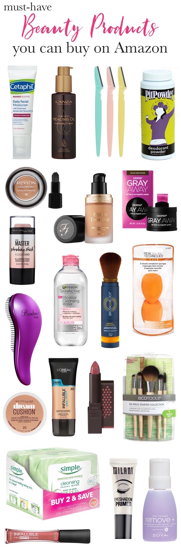 Fabulous beauty finds on Amazon Prime! Everything from value-size facial cleansing wipes to little-known indie brands can be found at affordable prices!