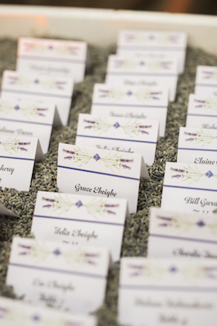 Lavender place cards | Jenny Quicksall Photography