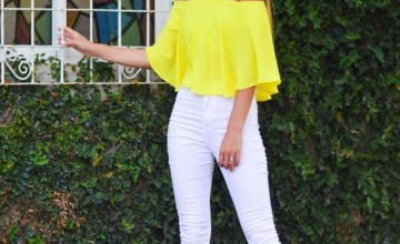 05a9f  yellow off shoulder top and white pants.jpg