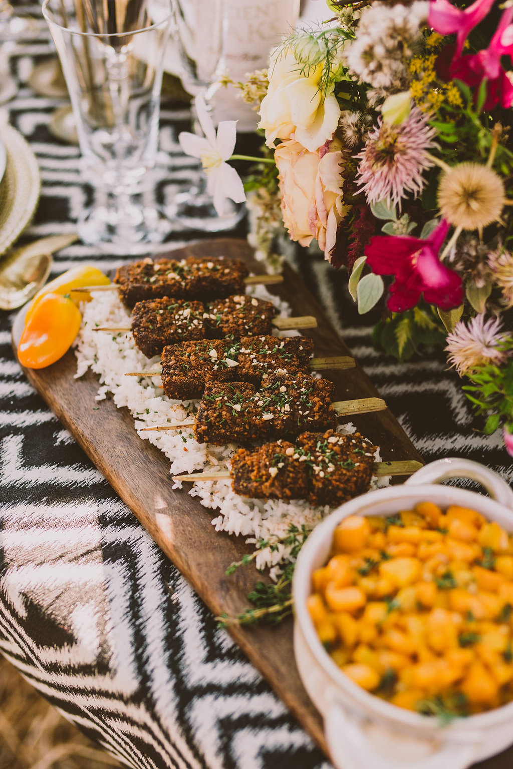 wedding food - photo by Michelle Roller http://ruffledblog.com/wild-safari-inspiration-shoot-with-a-jeep